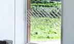 Milchglasfolie - Banner - Streifen