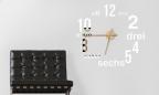 Wandtattoo Uhr - Moderner Zahlenmix