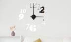 Wandtattoo Uhr - Chaos-Typo
