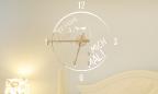 Wandtattoo Uhr - Der frühe Vogel kann mich mal