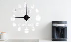 Wandtattoo Uhr - Have a cupcake
