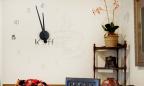 Wandtattoo Uhr - Kaffeezeit