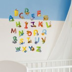 Wandsticker Set A4 - animal abc