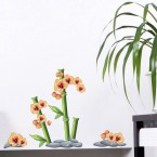 Wandsticker Set A4 - Orange Orchideen