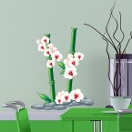 Wandsticker Set A4 - Weiße Orchideen