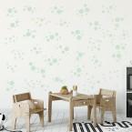 Wandsticker Set Mega - Pastell Punkte Grün