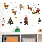 Wandsticker Set A4 - Weihnachten
