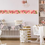 Bordüre KInderzimmer Rosen