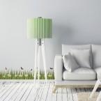 Bordüre Gras mit Gänseblümchen Transparent - 2 m