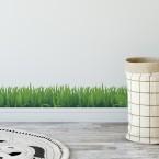 Bordüre Gras mit Blättern Transparent - 2 m
