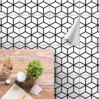 bodenfliesenaufkleber für küche und bad muster Cubes