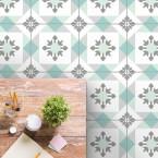 bodenfliesenaufkleber für küche und bad muster Emilia