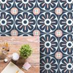 bodenfliesenaufkleber für küche und bad muster floral