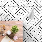 bodenfliesenaufkleber für küche und bad muster labyrinth