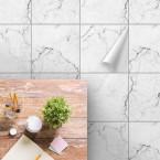 bodenfliesenaufkleber für küche und bad muster Marmor