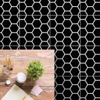 bodenfliesenaufkleber für küche und bad muster waben weiss
