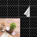 bodenfliesenaufkleber für küche und bad muster weisse punkte