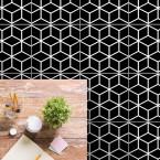bodenfliesenaufkleber für küche und bad muster white Cubes