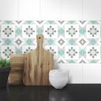 Muster Fliesenaufkleber Emilia für die Küche