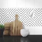Muster Fliesenaufkleber Labyrinth für die Küche