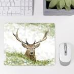 Mousepad auf Schreibtisch Hirschkopf