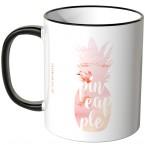 JUNIWORDS Tasse Ananas Design-3-Flamingo