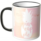 JUNIWORDS Tasse Ananas Design-4-Flamingo