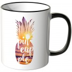 JUNIWORDS Tasse Ananas Design-3-Sonnenuntergang