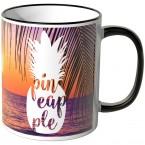 JUNIWORDS Tasse Ananas Design-4-Sonnenuntergang