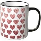 JUNIWORDS Tasse rote Herzchen