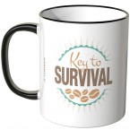 JUNIWORDS Tasse Key to SURVIVAL