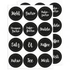 Küchen - Etiketten, 24 Stück