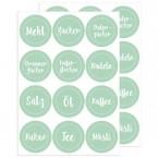 Küchen - Etiketten Grün, 24 Stück