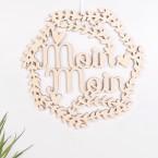 """Blumenkranz """"Moin Moin"""" aus Birkenholz"""