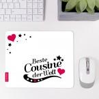 Mousepad Beste Cousine - Motiv 8