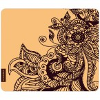Mousepad Henna Muster Beige