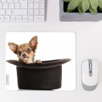 Mousepad Hund im Hut