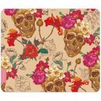 Mousepad Blumen-Totenkopf