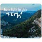 JUNIWORDS Mousepad be a light in this world
