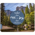 JUNIWORDS Mousepad take the risk oder lose the chance