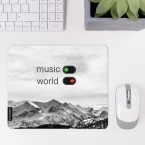 JUNIWORDS Mousepad music on, world off