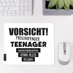JUNIWORDS Mousepad Vorsicht! Freilaufender Teenager