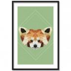 Poster Panda Lowpoly, Rahmen