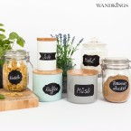 Tafelfolie - Etiketten Blumen, 34 Stück