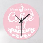 Motiv Wanduhr - Coffee and Cupcakes Rosa