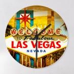 Wanduhr Las Vegas