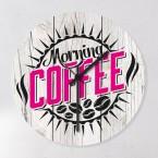 Uhr Kaffee Pink