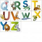 Wandsticker - lustige Tierbuchstaben