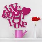 Live Laugh Love Wanduhr