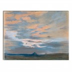 Eugène Delacroix - Himmelstudie bei Sonnenuntergang